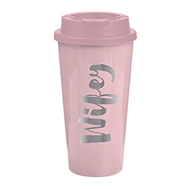 Wifey  Travel Mug - 16 oz Light Pink Insulated Travel Mug - Great Gift For Wife, Bride To Be, Engaged or Newlywed
