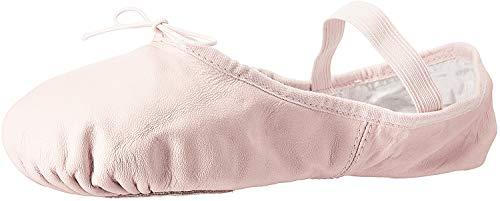 Bloch Womens S0258L Dance Women's Dansoft II Leather Split Sole Ballet Shoe/Slipper, Theatrical Pink, 8.5 Narrow