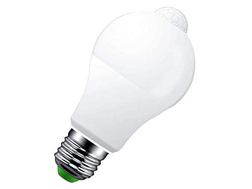 LEDLUX Bombilla LED E27 con sensor de movimiento por infrarrojos, 9 W,...