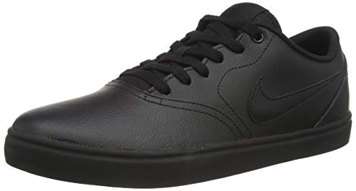 Nike Sb Check Solar Mens Skate Board Shoe 843895-009 Size 12 Black/Black/Black
