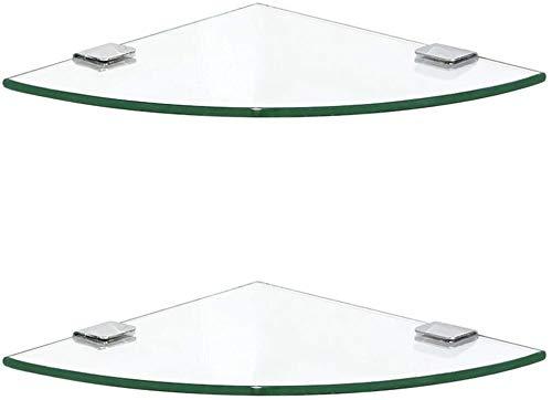 AINIYF Baño Plataforma de baño Ducha Organizador de Pared Triángulo de Vidrio Templado Esquina Punch, 4 tamaños (Color: Niveles 3, Tamaño: 30x30cm)
