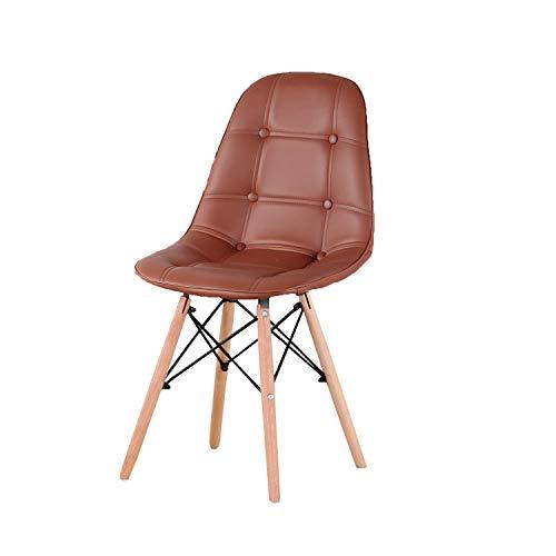 KUN_SK Sillas de escritorio modernas y elegantes sillas de comedor para comedor, cocina, sala de estar, juego de 4 unidades, color marrón