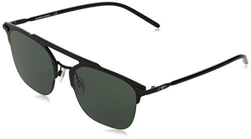 Emporio Armani Unisex 0EA2090 Sonnenbrille, Black/Grey Green, 45/14/145