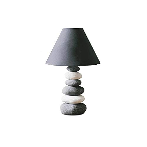 JYDQM Lámpara de Mesa de Piedra de cerámica Lámparas de Mesa para Sala de Estar Mesita de Noche Decoración del hogar Iluminación Lámpara de Porcelana Mesa de luminaria