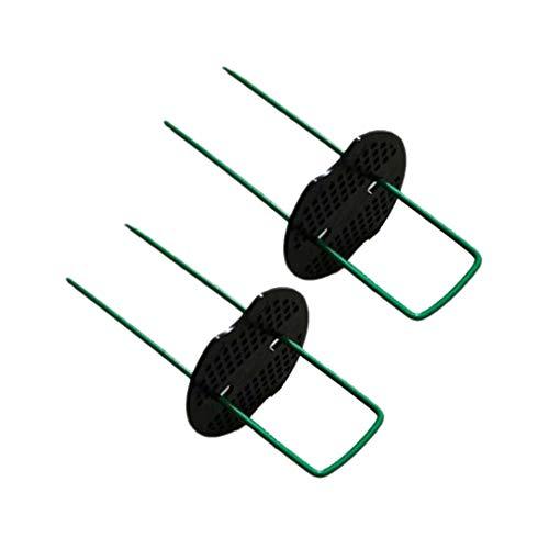ddmlj 50 U-Förmige Edelstahlnägel Für Den Garten + 50 Dichtungen Für Die Rasenbefestigung Im Gartengrund