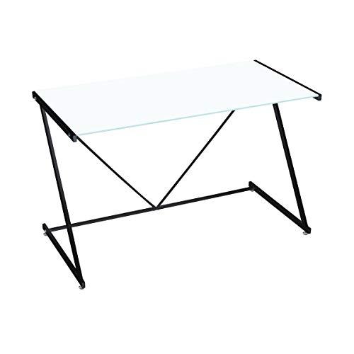 Mesa Escritorio de Cristal Blanca Moderna para Oficina Vitta - LOLAhome