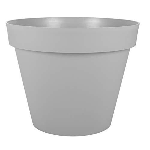 Vaso tondo EDA Tuscany - 60 cm - 76 L - Grigio cemento
