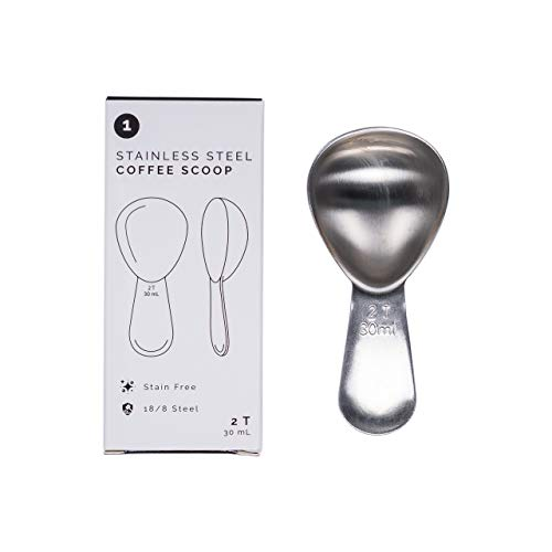 Airscape Stainless Steel Coffee Scoop - 2 Tablespoons Stainless Steel Spoon, Perfectly Proportioned and Ergonomic, Fits inside the Airscape Canister