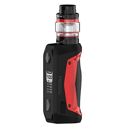 GeekVape Aegis Solo mit Cerberus E-Zigaretten Set - 18650er Akkuträger - 100 Watt Leistung - 5,5ml Tankvolumen - Farbe: rot