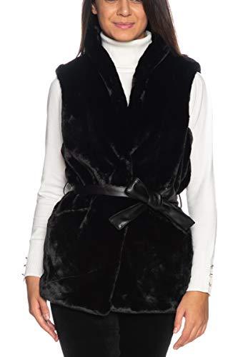 ONLY ONLOLLIE Faux Fur Waistcoat OTW Manteau en Fausse Fourrure, Noir, M Femme