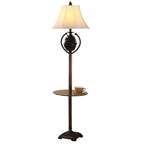 Allamp Lámpara de pie Lámpara de pie Resina Iluminación Interior de pie Lámpara Antigua Adecuado for Sala de Estar Dormitorio - Interruptor de Pedal para Aprender de Coser en Sala de Estar y dormitor