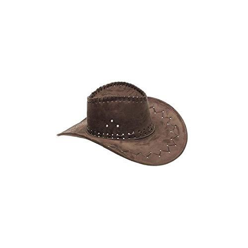 Chapeau de cowboy peau marron - unique