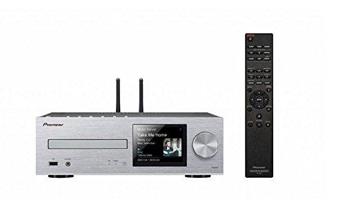 Pioneer Netzwerk CD-Receiver, XC-HM86D-S, Wiedergabe von Audio CD/CD-R/CD-RW/MP3 CD, DSD/HiRes Audio, Multiroom, WLAN, Bluetooth, Streaming, Musik Apps (Spotify, Tidal, Deezer), DAB+, Silber, 1500133