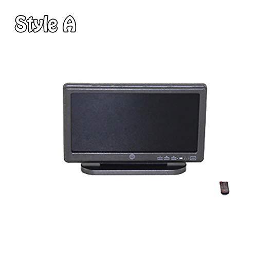 qingsb Mini TV Juguete Miniatura Pantalla Pantalla para 1/6 1/12 muñeca casa...