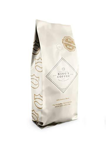 King's Coffee – White Edition Espresso – 100% Single Origin Arabica aus Brasilien – Kaffee-Bohnen für Vollautomaten – 1KG Espresso-Bohnen