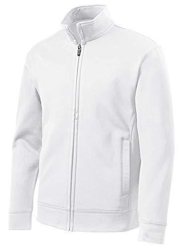 DRIEQUIP Youth Moisture Wicking Fleece Full-Zip Jacket-Youth-M-White