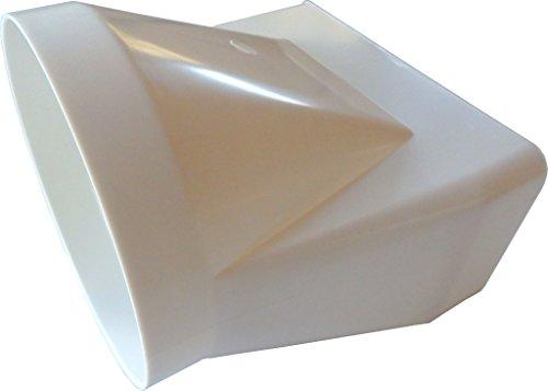 Übergangsstück von rund auf eckig in Weiß 150er Abluftsystem 150 mm Durchmesser für Rundrohr und Flachkanal Vierkantrohr Abluft