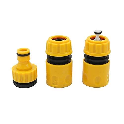 PVC grifo Conector 1/2' 3/4 '' Agua de anclaje rápido Kit de goteo cinta for conectores de manguera de riego evitar que el agua de mangueras for la pistola de agua 1 Set (3 piezas)
