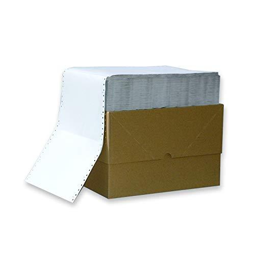 Endlospapier 12 Zoll 3-fach blanko 60 g/qm 800 Satz weiß selbstdurchschreibend für Nadeldrucker