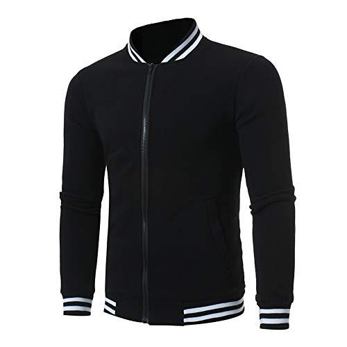 Celucke Bomberjacke Herren Einfarbig Farbe Baseball Jacke,Herbst Winter Warm Casual Reißverschluss Blouson Sweatjacke Trainingsjacken
