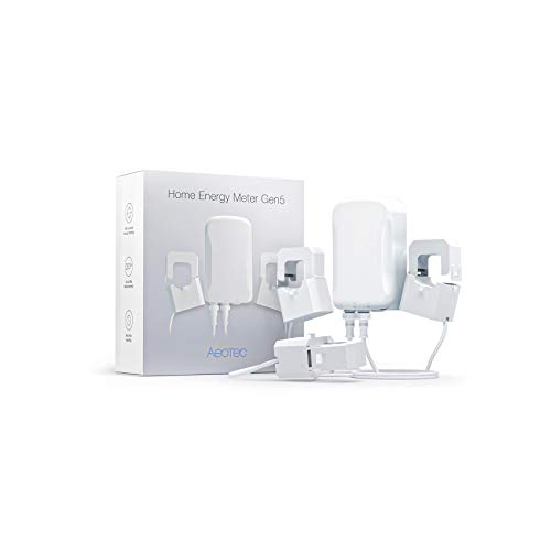 Aeotec AEOEZW095C3A60 Zangenamperemeter mit drei Zangen GEN5 (60A), Weiß