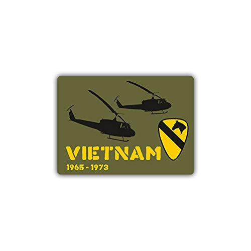 Aufkleber/Sticker Vietnam Krieg USA Wappen 1st Cavalry Division 7x10cm #A972