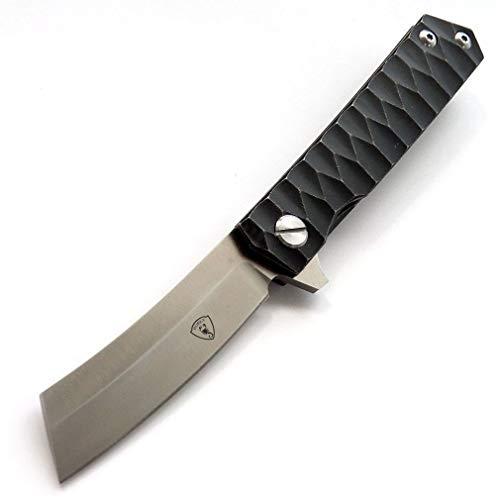 AUBEY Messer Klappmesser Outdoor Survival Angelmesser Extra Sharp Campingmesser Taschenmesser (D2 Stahl Klinge - Sheepfoot)