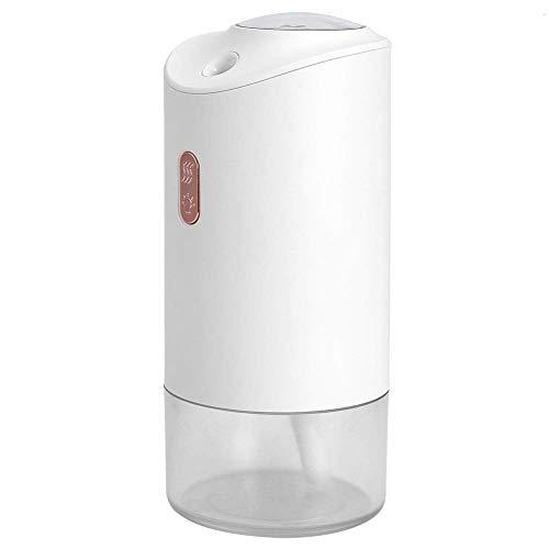 AYCYNI Kfz-Luftbefeuchter, mit Projektion Umgebungslicht tragbarer Mini-Luft-Diffusor, geräuscharmer Baby-Raum, der Toom für Büro nach Hause lebt (weiß)-White