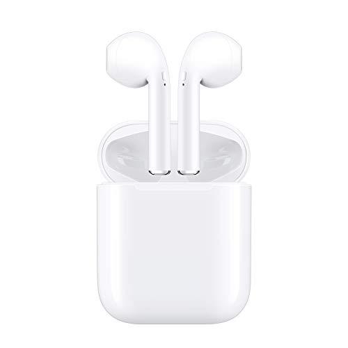【2020 Bluetooth 5.0 タッチ式】ワイヤレスイヤホン ブルートゥース 自動で接続両耳通話 左右分離型 両耳 技適認証済み 6時間連続音楽再生可能ヘッドセットタッチコントロール へアクセス (ホ ワイト)