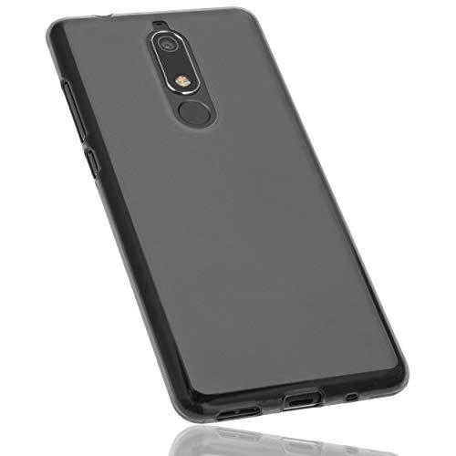 mumbi Hülle kompatibel mit Nokia 5.1 2018 Handy Hülle Handyhülle, transparent schwarz