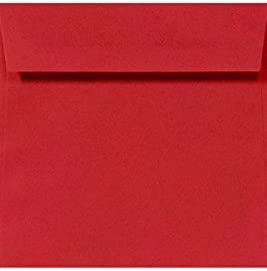LUXPaper 4 x Square El Paso Mall Envelopes in lb. Same day shipping Ruby 3 Red for 80