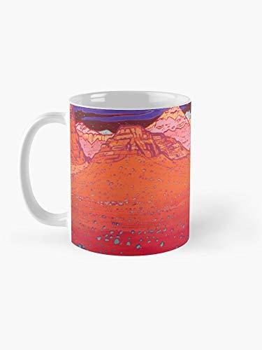 Pink Clouds 2 Mug Taza de café artística divertida (11 onzas líquidas)