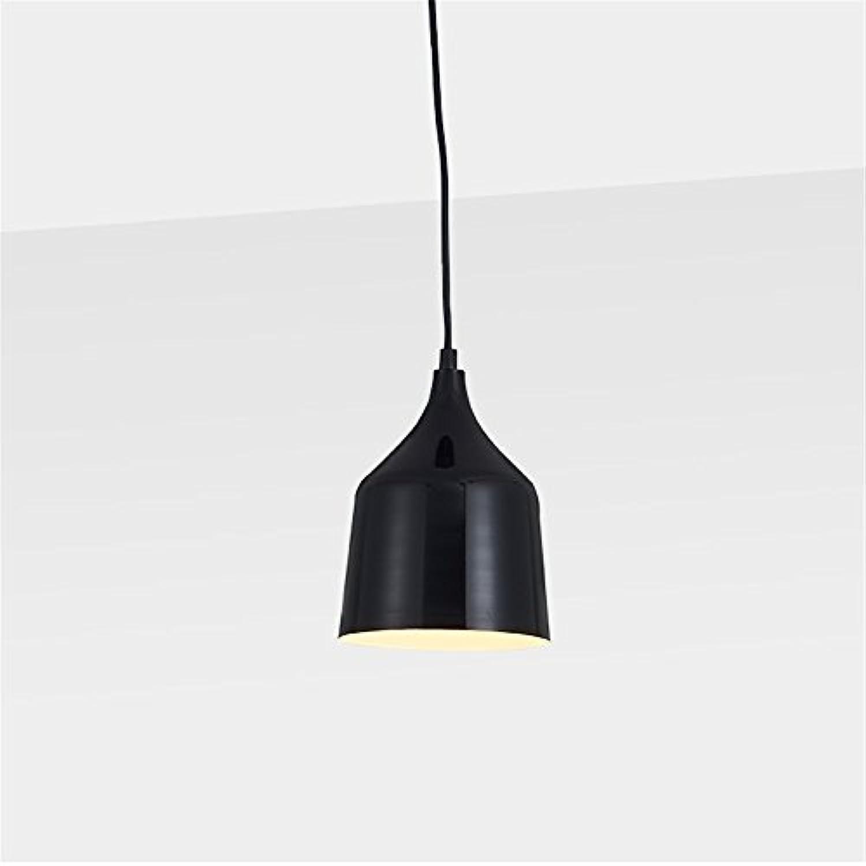 E27 moderner Persnlichkeit 1 Head Wine glass Kronleuchter Restaurant Cafe Zimmer Home Decor Draht Pendelleuchte,schwarz S