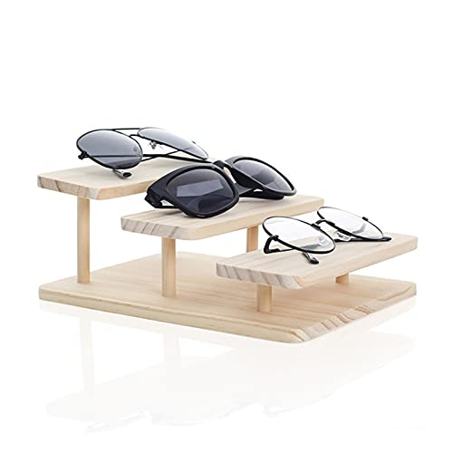 Hong Yi Fei-Shop Soporte para Gafas Ensamblaje de Gafas de Sol de bambú Soporte de Stands Pantalla de joyería Pulsera Relojes Mostrar Producto Soporte Gafas (Color : 3 Layers)