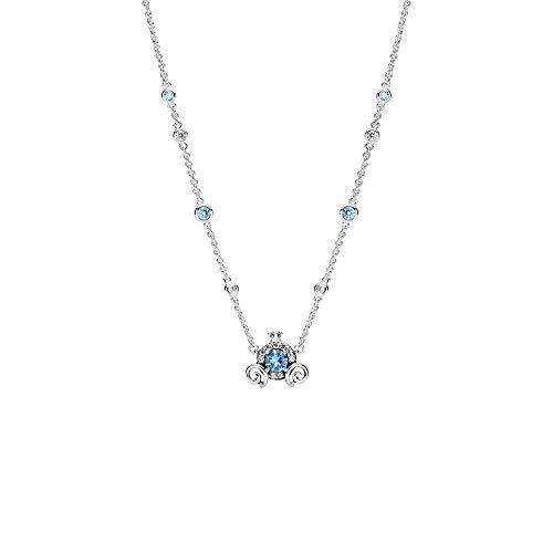 Pandora Disney - Collana con ciondolo a forma di zucca, in argento Sterling, 45 cm