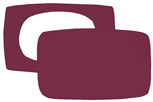 Home Edition 2er Pack Spannbezug für Nackenstützkissen Baumwolljersey (mit Elasthan) 36x50 bis 36x60 cm (Brombeere)