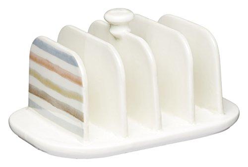 KitchenCraft Classic Collection Vintage-Style Ceramic Toast Rack - Cream