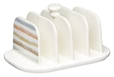 KitchenCraft Classic Collection Vintage-Style Ceramic Toast Rack - Cream