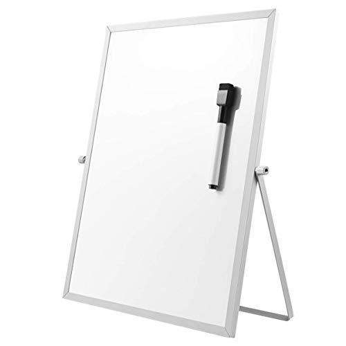 Tamkyo Magnetische Trocken Erase Board mit St?Nder für Desktop Beid Seitig Wei? Board Planer Reminder für Schul BüRo 11 Zoll X 7 Zoll