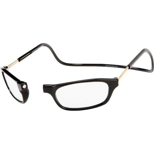 CliC Magnetic Readers - Original Black Long - Black +2.00