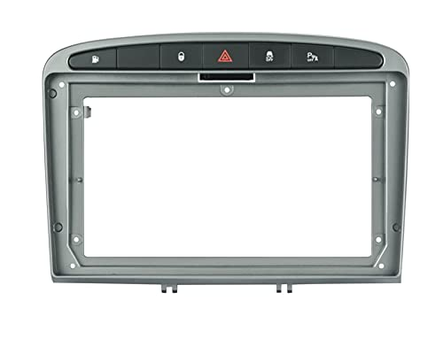 Danghe 2   1Din Car Sin DVD Sólo DVD Frame Audio Adaptador de Ajuste Dash Play Facia Panel 9inch Fit para Peugeot 308 2008-2013 Doble DIN Radio Player (Color Name : Only Frames)