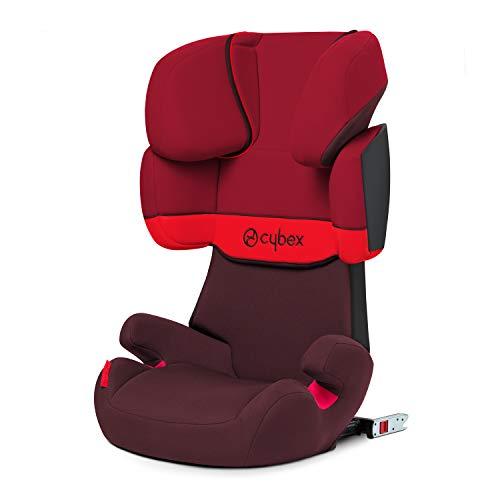 CYBEX Silver Seggiolino Auto per Bambini Solution X-Fix, Per Auto Con e Senza Isofix, Gruppo 2/3 (15-36 kg), da 3 Fino a 12 Anni circa, Rosso (Rumba Red)