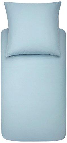 AmazonBasics - Bettwäsche-Set, Mikrofaser, 135 x 200 cm - Spa Blau