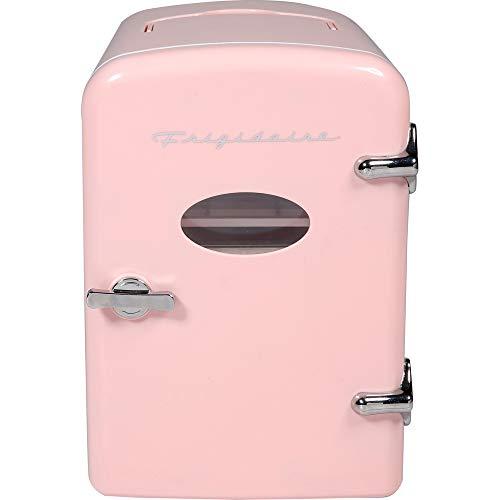 Mini nevera portátil – Retro Extra grande 9 latas de viaje, nevera compacta, rosa
