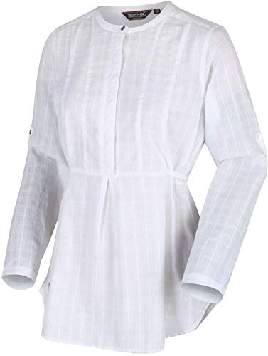 Regatta Maladee Chemise Femme White Dobby FR : L (Taille Fabricant : Taille 16)