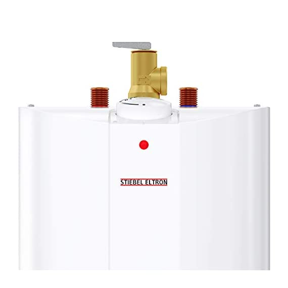 Stiebel Eltron 233219 2.5 gallon, 1300W, 120V SHC 2.5 Mini-Tank Electric Water Heater 12 Plugs into standard 120 volt outlet T and P valve included Wall-mounted with included bracket