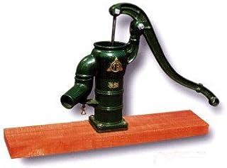手押しポンプ<共柄ポンプ>T32PDF 堀井戸用(台付きタイプ)、プラ玉ピストン方式、木台板タイプ、底フート弁つき