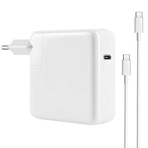 87W USB-C Netzteil Kompatibel mit dem neuen MacBook Pro USB C Ladegerät, Ersatzladegerät Für 2016 2017 2018 2019 MacBook 13/15 Zoll, 30W/61W/87W Typ C Ladegerät mit 6,56 Fuß Ladekabel