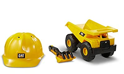 Cat Construction Dump Truck with CAT Hard Hat Sand Set