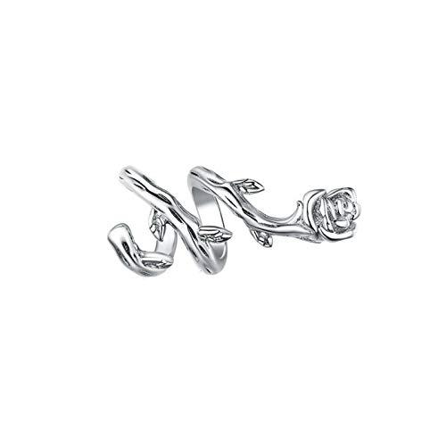 HMMJ Charms Dangle Beads,S925 Sterling Silver Electroplated Rose Flower Vine DIY Handmade Pendant for Pandora Troll Chamilia Charm Bracelet Necklaces